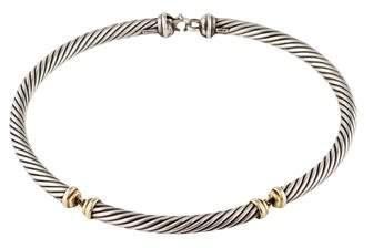 David Yurman Two-Tone Metro Collar Necklace