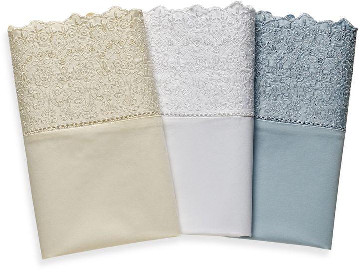 Wamsutta 400 Thread Count Lace Hem Sheet Set, 100% Cotton