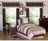 JoJo Designs Sweet Soho 3-Piece Full/Queen Bedding Set in Pink/Brown