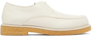 The Row Honore Creased-leather Derby Shoes - Cream