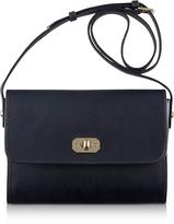 A.P.C. Greenwich Black Leather Crossbody Bag