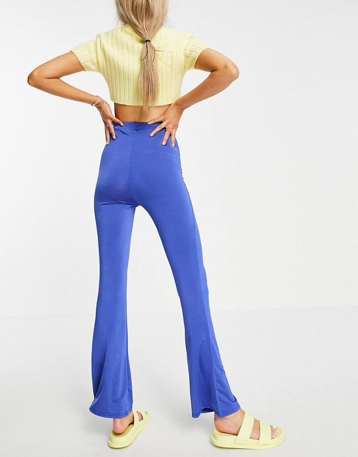 Thumbnail for your product : Collusion slinky legging flares co-ord in Blue