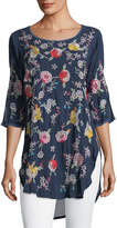 Johnny Was Playa Embroidered Georgette Tunic