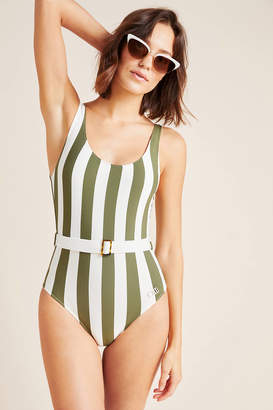 Solid & Striped Anne Marie Belted One-Piece Swimsuit