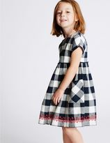 Marks and Spencer Pure Cotton Checked Dress (3 Months - 5 Years)