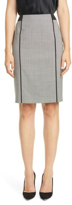 BOSS Veriba Minidessin Stretch Wool Pencil Skirt