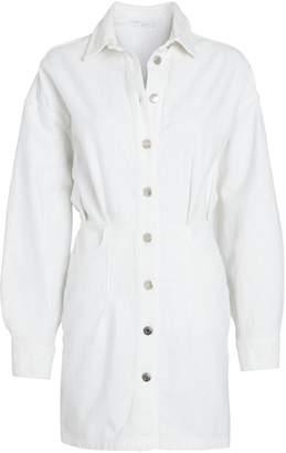 IRO Raffa Denim Mini Shirt Dress