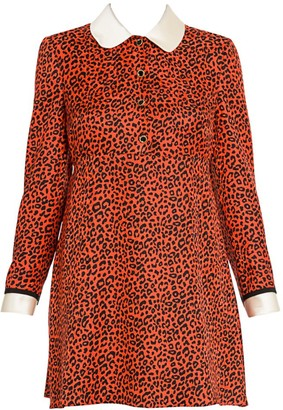 Miu Miu Animal-Print A-Line Dress