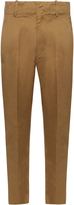 Etoile Isabel Marant High-rise tapered-leg cotton chino trousers