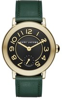 Marc Jacobs Women's 'Riley' Round Leather Strap Watch, 36Mm