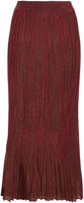 M Missoni Metallic Crochet-knit Midi Skirt