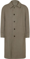 Maison Margiela - Reversible Gingham Wool And Cotton-twill Trench Coat