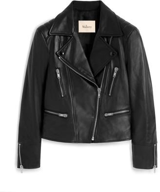 Mulberry Bethany Jacket Black Nappa Leather