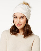 Steve Madden Faux-Fur Cable Knit Cuff Hat