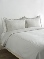 Melange Home Border Stripe Embroidered Duvet Set