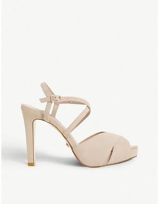 Dune Mishaa platform stiletto glitter heeled sandals