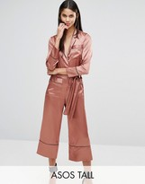 ASOS Tall ASOS TALL Pajama Style Jumpsuit in Satin