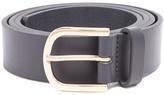 MAISON KITSUNÉ Logo-debossed leather belt