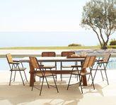 Pottery Barn Abbott Rectangular Dining Table & Tolland Folding Chair Set