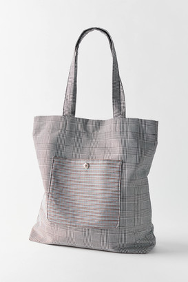 Urban Outfitters Plaid Pocket Tote Bag
