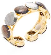 Bounkit Quartz & Pyrite Cuff Bracelet