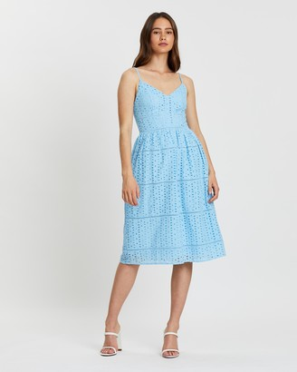 Atmos & Here Caterina Tiered Lace Dress