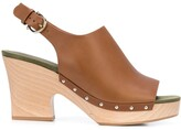 Salvatore Ferragamo 40mm Clog Sandals