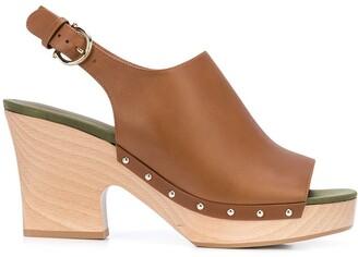 Salvatore Ferragamo 40mm Clog Sandals