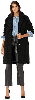 J.Crew Teddy Sherpa Topcoat (Black) Women's Coat