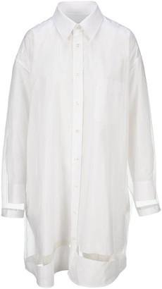 Maison Margiela Sheer Overlay Shirt Dress