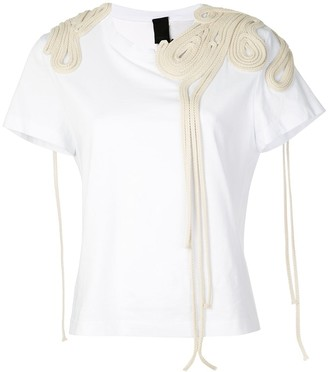 Vera Wang corded embroidery T-shirt