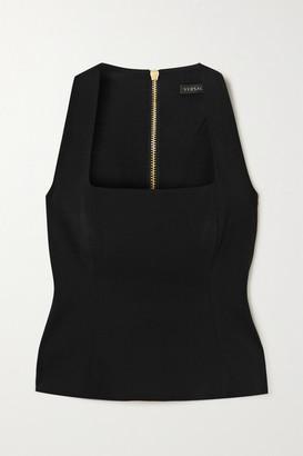 Versace Crepe Bustier Top - Black