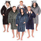 Mens Snuggle Bath Robe Hooded Dressing Gown By Pierre Roche