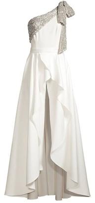 Jay Godfrey Gavin One-Shoulder Jumpsuit & Removable Skirt