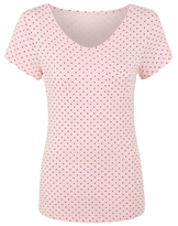 George Tickled Pink Love Heart Pyjama Top