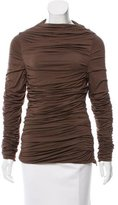 Guy Laroche Ruched Long Sleeve Top