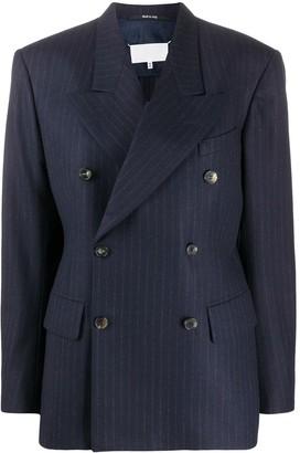 Maison Margiela pinstripe double breasted blazer