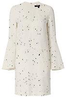 Derek Lam Bell Sleeve Drip Dot Pattern Dress