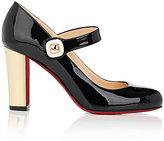 Christian Louboutin Women's Bibaba Patent Leather Mary Jane Pumps-BLACK