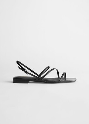 And other stories Strappy Leather Slingback Sandals