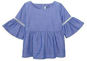 Janie and Jack Little Girl's & Girl's Bell-Sleeve Cotton Top