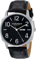 Akribos XXIV Men's AK801SSB Analog Display Japanese Quartz Black Watch