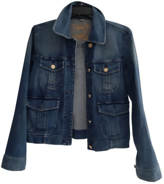 Michael Kors Blue Denim - Jeans Leather Jacket for Women