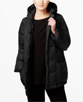 Eileen Fisher Weather Resistant Hooded Puffer Coat