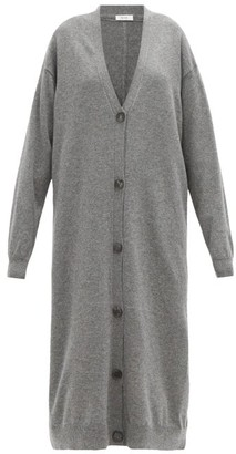 The Row Armando Longline Cashmere Cardigan - Dark Grey