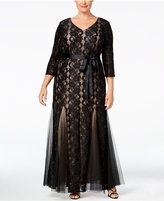 Alex Evenings Plus Size Sequined Lace Mermaid Gown