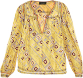 Isabel Marant Tyron printed pleated top