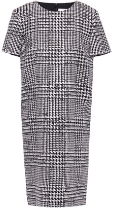 Carolina Herrera Prince Of Wales Checked Wool And Silk-blend Mini Dress