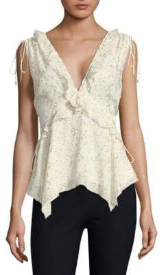 Derek Lam 10 Crosby Silk Handkerchief Top