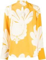 La DoubleJ pineapple print silk shirt